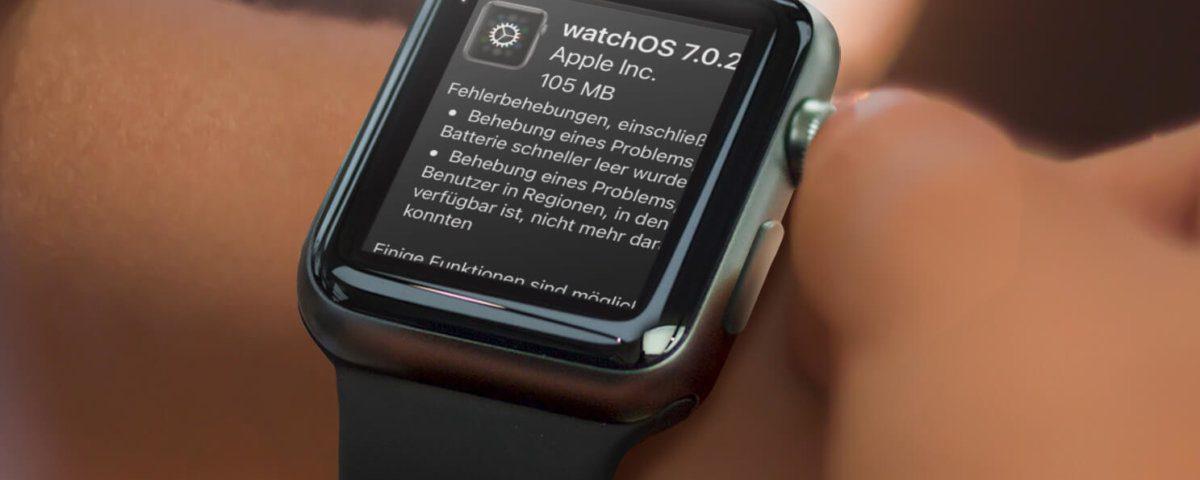Apple Watch Update auf watchOS 7.0.2