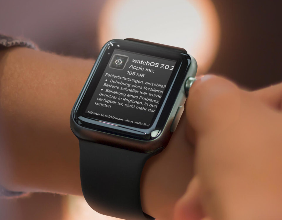 Apple Watch Update auf watchOS 7.0.2