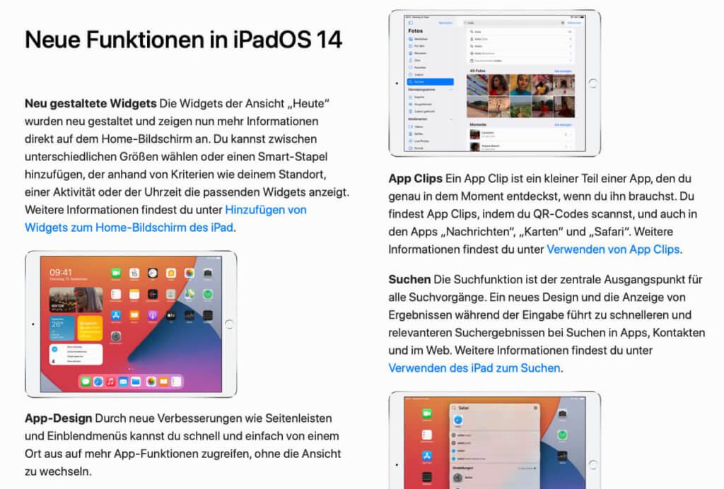 Widgets erklärt: Apple zeigt im E-Book, wie man Widgets am iPad einrichtet und modifiziert.