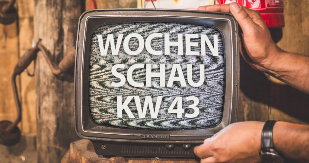 Included in the Sir Apfelot Wochenschau for calendar week 43 in 2020: Facebook and YouTube algorithms, Tesla cars with data protection problems, Paypal for crypto currencies, Xiaomi with 80 watts for wireless battery charging, successful NASA mission and more.