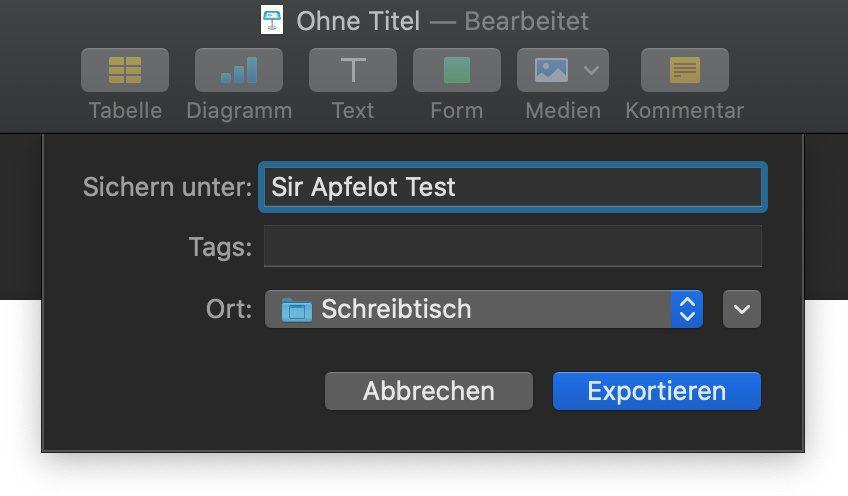 Am Ende wird das GIF am Mac ganz normal gespeichert –mit selbst gewähltem Namen und Speicherort.