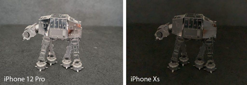 Diese Aufnahme des AT-AT (aus Star Wars) finde ich sehr beeindruckend. Das iPhone 12 Pro hat hier – dank Stativ und 3 Sekunden Belichtungszeit wirklich das Maximum (Automatik) herausgeholt.