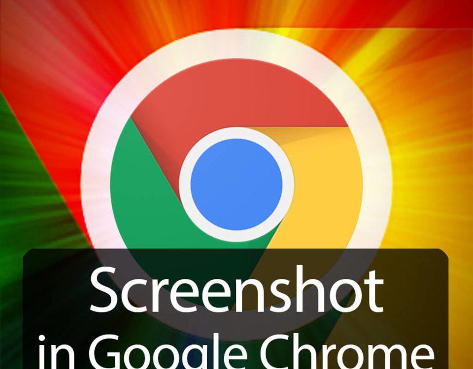 Screenshot einer ganzen Webseite in Google Chrome erstellen