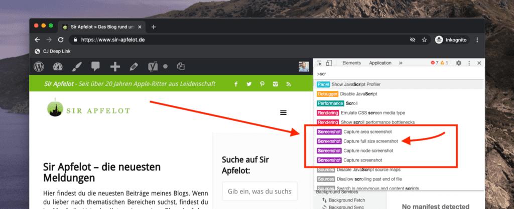 """Mit der Option """"Run Command"""" können wir dann den Befehl zum Auslösen des Screenshots auswählen."""