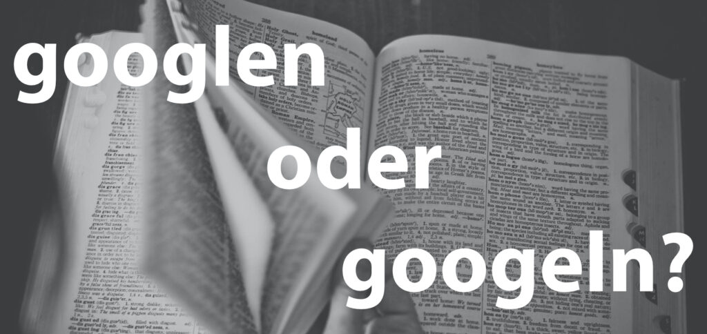"""Wie ist die korrekte Schreibweise des Verbs, das """"im Internet suchen"""" bedeutet? Wird es laut Duden googeln oder googlen geschrieben? Hier findet ihr die Antwort."""