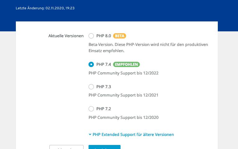 PHP Zwangsupdate – Fehlermeldungen bei Webseiten vorprogrammiert