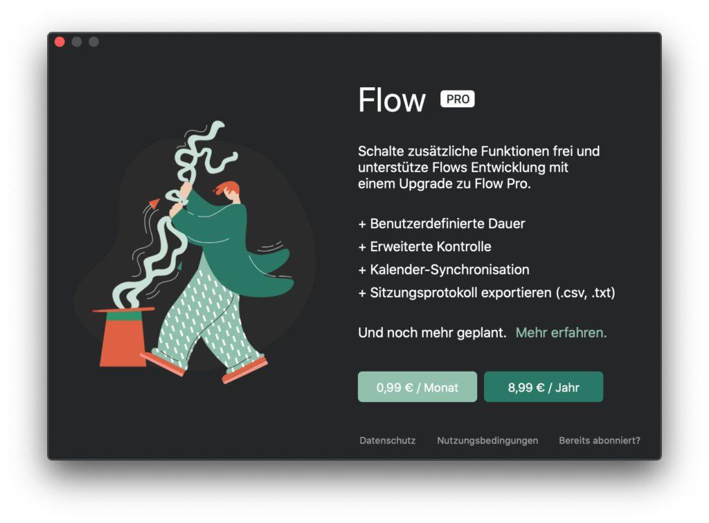 Flow PRO bringt weitere Funktionen, die für die Erstellung und Auswertung von Produktivitätsstatisten wichtig sein können.