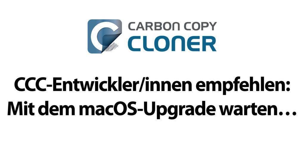 Bombich Software, die Entwickler/innen hinter Carbon Copy Cloner, raten derzeit noch vom Upgrade auf macOS 11.0 Big Sur ab. In dem System stecken noch Fehler, die von Apple per Update korrigiert werden müssen.