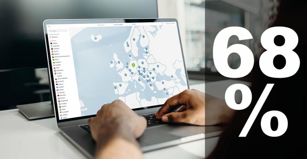 """NordVPN ist laut AV-Test der schnellste VPN-Anbieter. Aber nicht nur das: mit """"Dark Web Monitoring"""" gibt es jetzt ein neues Sicherheitsfeature. Außerdem bekommt ihr zum Weihnachtsangebot 2020 ganze 68% Rabatt auf das 2-Jahre-Paket."""
