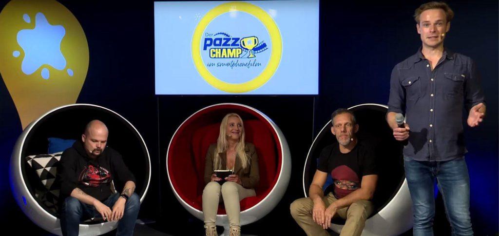 Pazz Champ ist eine Online-Talentshow mit Smartphonefilmen und ihren Macher/innen. Im Wettbewerb von jungen Filmteams, die mit dem Smartphone Filme drehen, geht es um ein Preisgeld von 10.000 Euro.