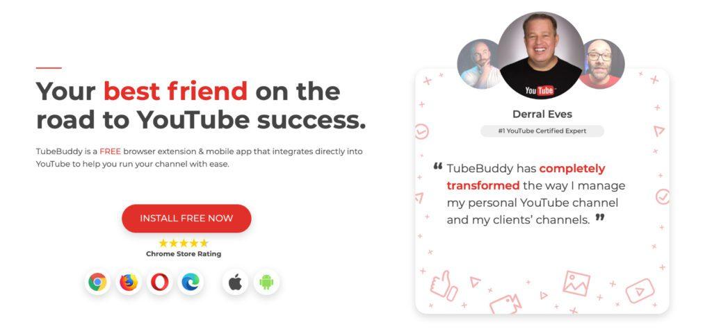 TubeBuddy ist ein Werkzeug für mehr Erfolg auf YouTube. Dank Suchmaschinenoptimierung (SEO) mit Keywords, A/B-Test, Analysen und Co. bekommen eure Videos mehr Klicks, Werbung wird effizienter und mit YouTube Geld verdienen wird leichter.