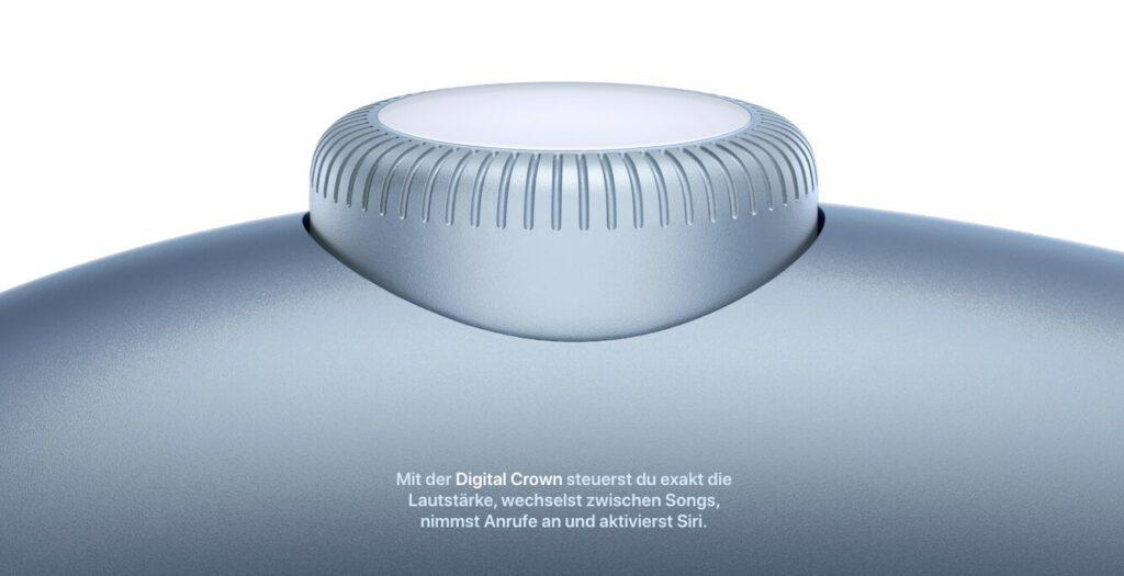 Als Bedienkonzept setzt Apple nicht auf Touch-Flächen, was ich sehr positiv finde. Stattdessen kommt die Digital Crown zum Einsatz, die man bereits von der Apple Watch kennt.