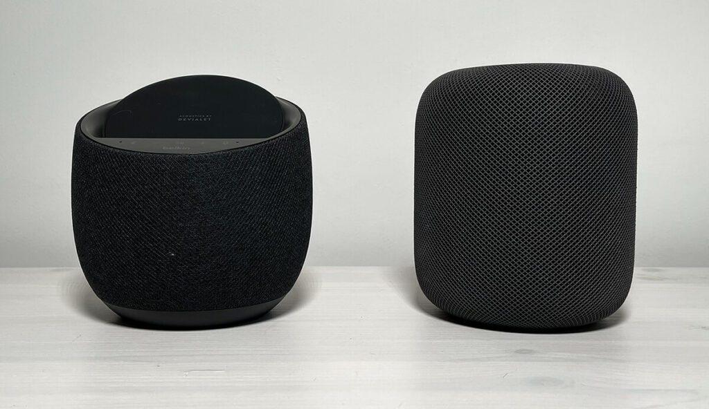 Der Audio-Vergleich des Belkin Soundform Elite zeigt, dass er klanglich sehr nah am Apple HomePod (Fotos: Sir Apfelot).