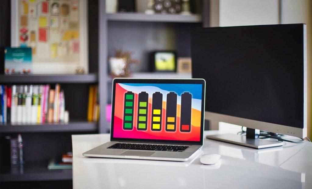 Das 13 Zoll MacBook Pro ist eine kleine Rechenmaschine mit unglaublich langer Akkulaufzeit, die durch die Effizienz des Apple Silicon Prozessors erreicht wird.