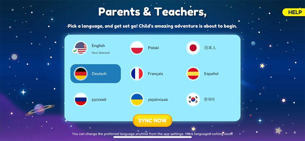 Die Orboot-App ist in 9 verschiedenen Sprachen verfügbar – da müsste auch für zweisprachig aufwachsende Kinder etwas passendes dabei sein.