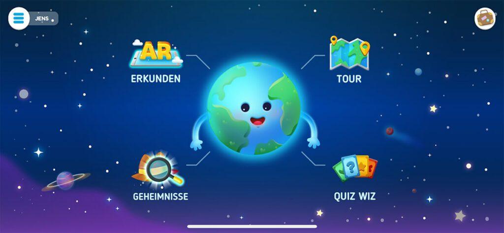 Im Hauptmenü kann man wählen, welches Spiel man starten möchte.