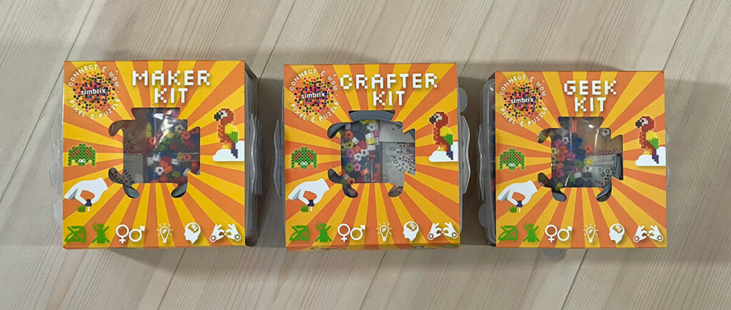 We will now be offering these three different kits from Simbrix in Germany: the Maker, Crafter and Geek Kit.