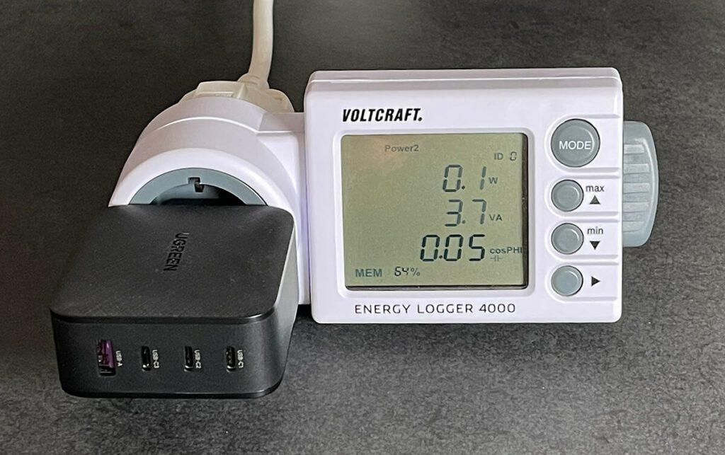 Der Stand-by-Stromverbrauch des Netzteils lag bei ca. 0,1 bis 0,2 Watt – also absolut im grünen Bereich.