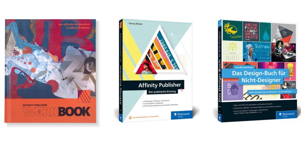 In diesem Ratgeber findet ihr fünf hilfreiche Bücher für den Einstieg ins Desktop-Publishing (DTP) sowie in die Arbeit mit der Serif-App Affinity Publisher für Mac und PC.
