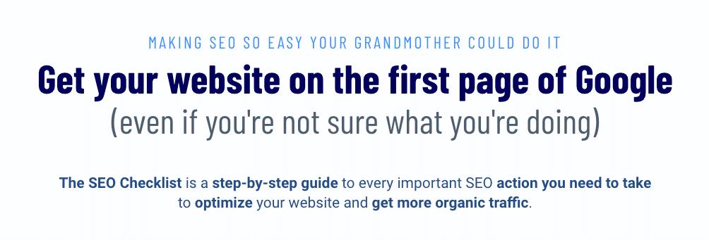 Auf Seite 1 von Google, ohne zu wissen, wie es passiert ist? Kommt eher selten vor… denn während der Arbeit mit der Checkliste lernt man auch, wie SEO funktioniert.