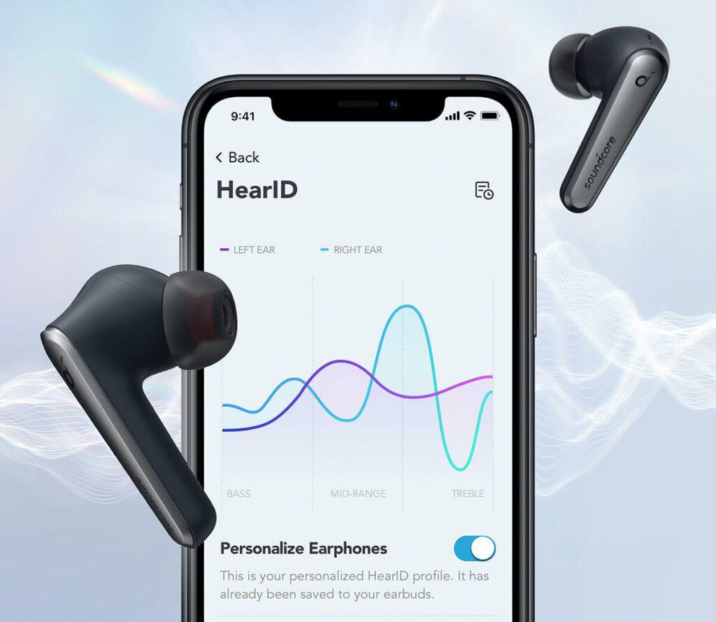 Über das Feature HearID 2 kann man die Frequenzwiedergabe der Kopfhörer individuell auf das eigene Gehör anpassen.