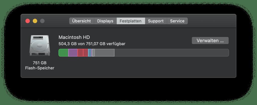 Will der Mac kein System-Update installieren, kann das an zu wenig freiem Speicher auf der Festplatte liegen. Bei diesem Beispiel ist das nicht der Fall ;)