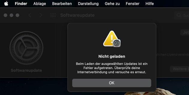Wenn das macOS-Update mit Fehlern abbricht, kann das verschiedene Ursachen haben. Lösungen für Update-Probleme am Apple Mac findet ihr in diesem Ratgeber. (Foto: Teresa)