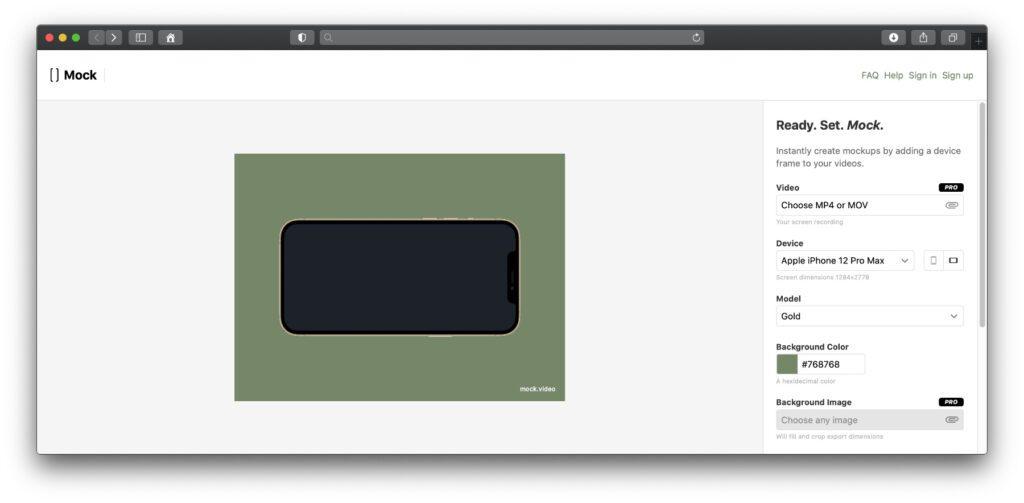Auf der mock.video Webseite könnt ihr euer Video hochladen, Anpassungen vornehmen und ein Mockup-Video inkl. eurer Bildschirmaufnahme erzeugen lassen. Welche Funktionen gratis und im Abo zur Verfügung stehen, lest ihr in dieser Anleitung.