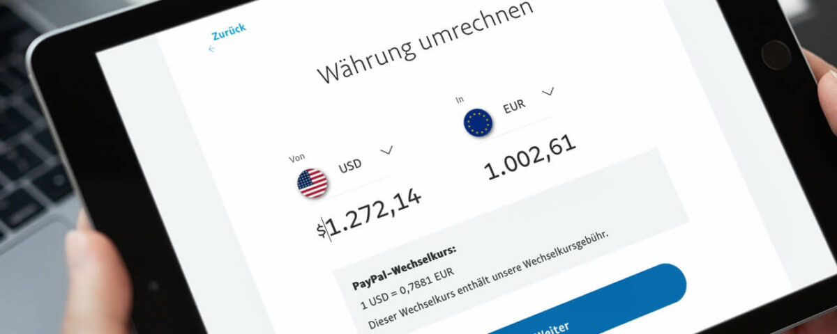 Paypal Guthaben in andere Währung umrechnen