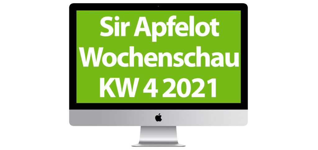 Günstige Filme bei Amazon Prime Video, SpaceX Starlink in Deutschland, neue Apple-Meldungen, Details zu iOS 14.4, Reddit und die GameStop-Aktie, sowie weitere News gibt's in der Sir Apfelot Wochenschau zur Kalenderwoche 4 in 2021.