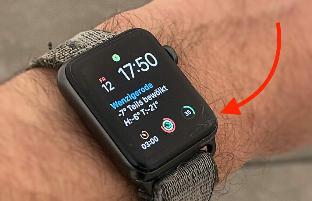 Displayschäden sind bei der Apple Watch nicht selten. Ich setze mittlerweile nicht mehr auf Apple Care+, sondern schütze das Display der Watch lieber aktiv (Fotos: Sir Apfelot).