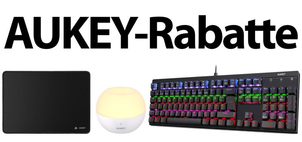 Bis einschließlich Samstag und Sonntag bekommt ihr Amazon-Rabatte auf Gaming-Zubehör und Beleuchtung von AUKEY. Die Amazon-Gutscheincodes für LED-Lampe, Tastatur und großes Mauspad findet ihr hier.