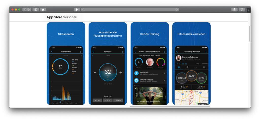 Garmin Connect und weitere App-Angebote des Herstellers findet ihr sowohl für iOS als auch für Android.