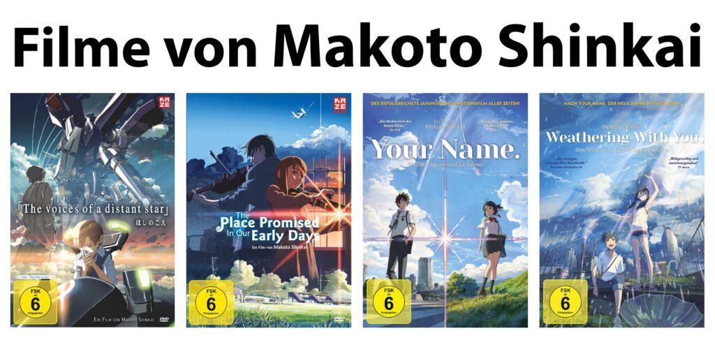 Was macht die Filme von Makoto Shinkai so besonders? Warum gehören sie in die Anime-Sammlung? Infos, DVDs, Blu-Rays und Streaming findet ihr in diesem Beitrag.