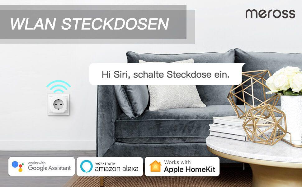 Durch die HomeKit Unterstützung lassen sich die Steckdosen auch per Siri-Sprachbefehl an- und ausschalten.