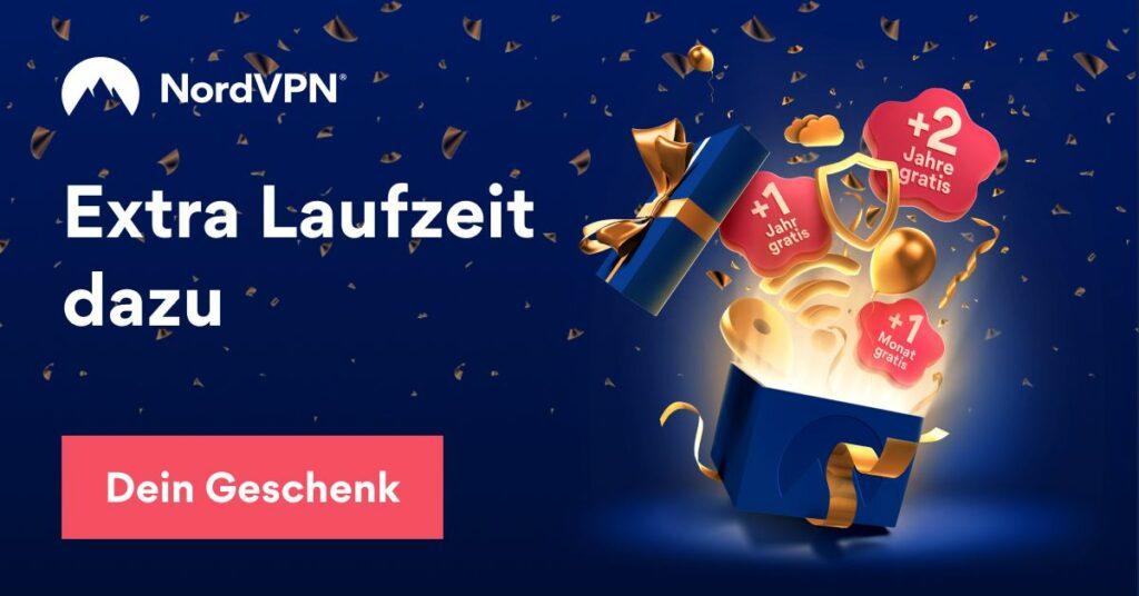 Der NordVPN-Geburtstag in 2021 bringt euch 68% Rabatt (2-Jahre-Abo) und bis zu 2 Jahre Extra-Laufzeit. Jetzt günstigen VPN-Dienst buchen und viele Vorteile genießen ;)