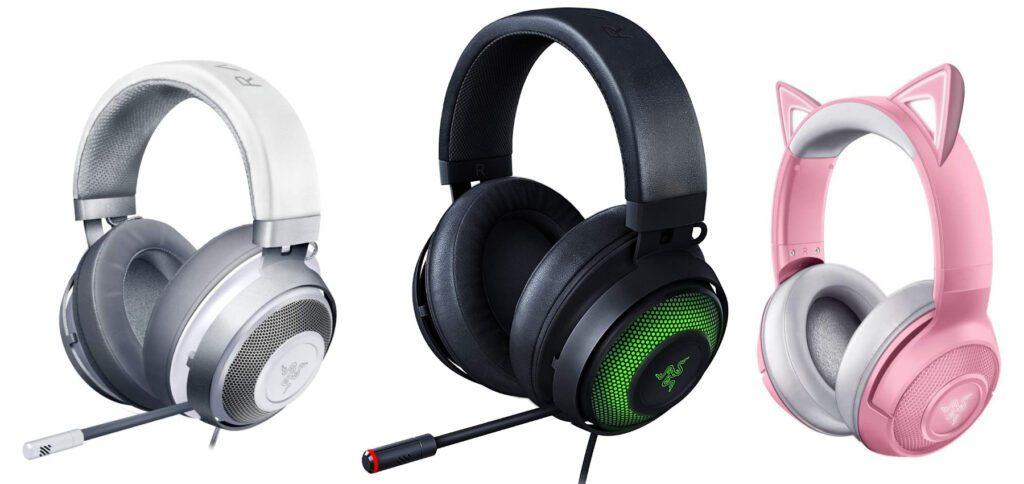 Hier finden ihr Informationen und Links zum Razer Kraken Headset für Gamer/innen. Das Gaming-Headset Razer Kraken gibt es in der Standard-, der X, der TE-, der Ultimate-, der Kitty- und der Kitty-Wireless-Version. Die beiden letzten mit Katzenohren und weiteren Design-Vorteilen.