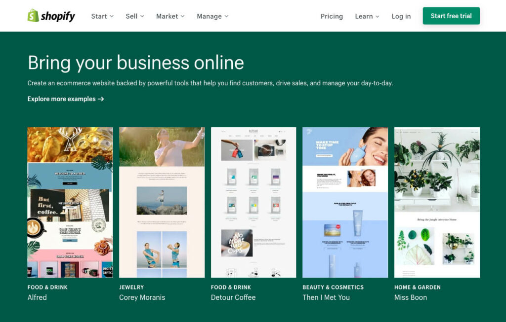 For large projects, I would still use Shopify, as you can create sophisticated designs here and also easily set up a blog with Shopify's CMS function.