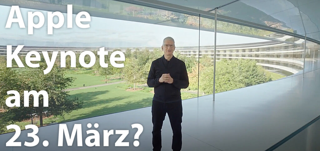 Die nächste Apple Keynote könnte am 23.03.2021 stattfinden. Als mögliche Veröffentlichungen stehen die AirTags, neue AirPods, neue iPad-Modelle und ein Apple TV mit mehr Leistung fürs Gaming zur Debatte.