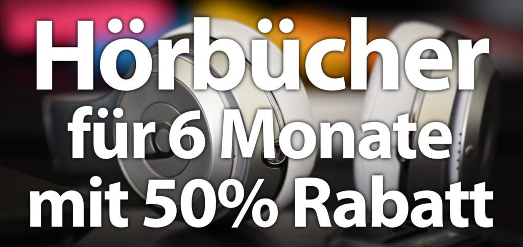 Noch bis zu 7. April 2021 bietet Audible das monatliche Abonnement für nur 4,95 € statt 9,99 € an. Für 6 Monate bekommt ihr diesen 50-prozentigen Rabatt. Das Abo ist jederzeit kündbar.