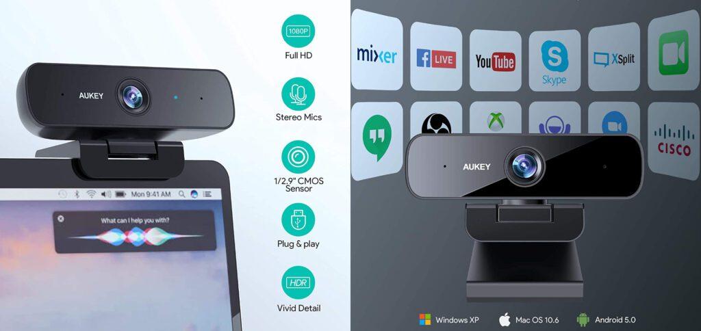 AUKEY bietet in 2021 die neue Version seiner HD-Webcam an. Die AUKEY PC-LM1H Webcam bietet neben Full HD auch HDR und eine Belichtungsautomatik. Technische Daten, den Vergleich zum Vorgänger und mehr gibt's hier.