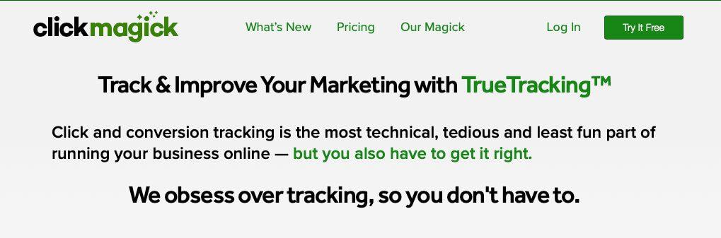 Die Ausgaben für ClickMagick machen sich bezahlt, wenn man das Conversion-Tracking nutzt, um seine Werbeausgaben zu optimieren.