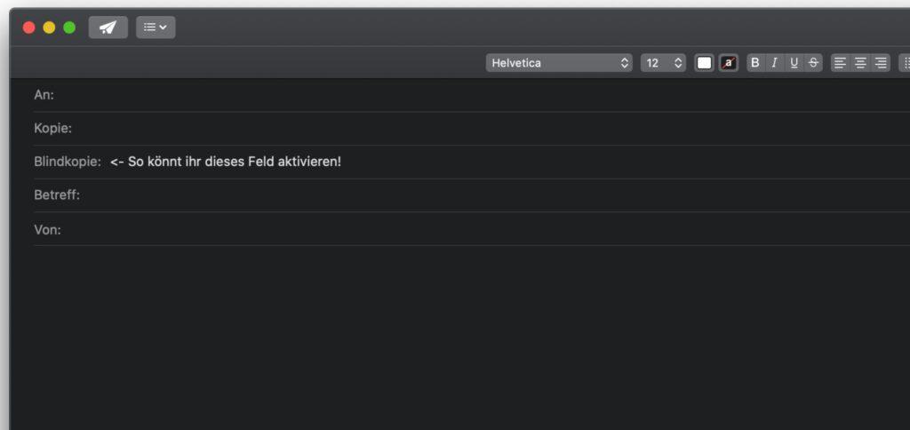 """Blindkopie in Apple Mail am Mac nutzen: Hier findet ihr die Schritt-für-Schritt-Anleitung für das Aktivieren vom Adressfeld """"Blindkopie"""" in der Mail App unter macOS."""