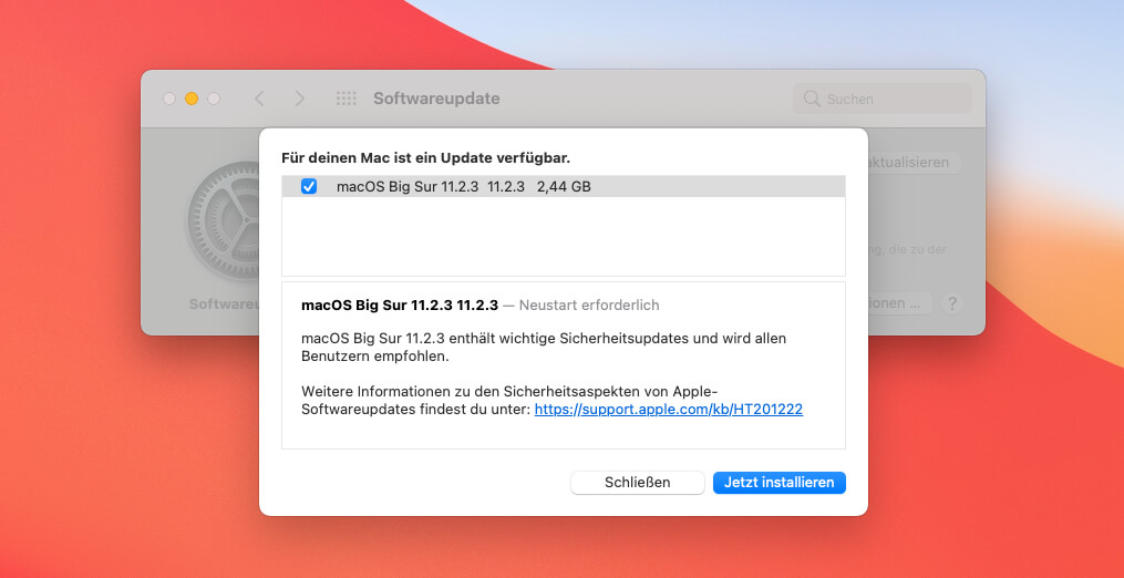 Big Sur's update to macOS 11.2.3 is above all a security update that fills a gap in Webkit.