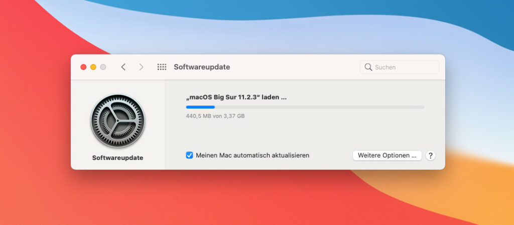 With a size of over 3 GB and an installation time of approx. 45 minutes, the security update is not even done quickly on the side.