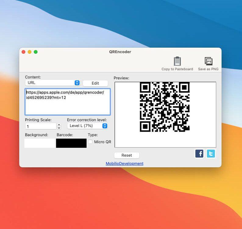 QR-Codes mit URL für Webseite erstellen