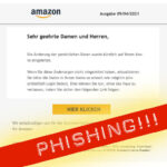 Amazon Sicherheitsalarm Phishing