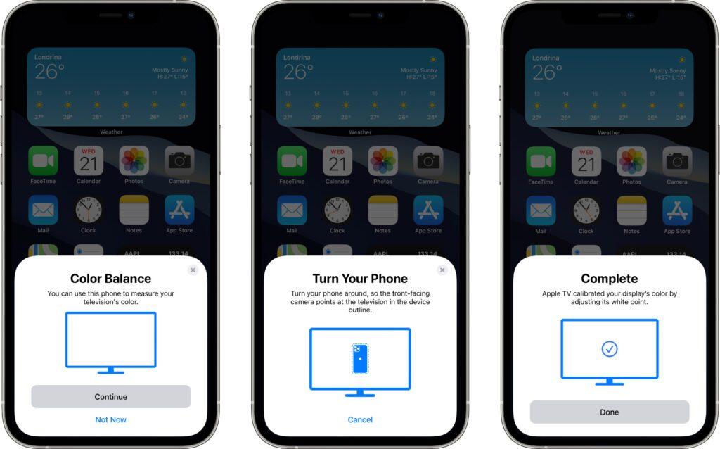 Mit tvOS 14.5 auf dem Apple TV (2015, 2017, 2021) sowie mit iOS 14.5 auf iPhone-Modellen mit Face ID kommt auch Color Balancing als Feature zu euch. Hier findet ihr die Anleitung für Farbbalance mit Apple TV und iPhone.