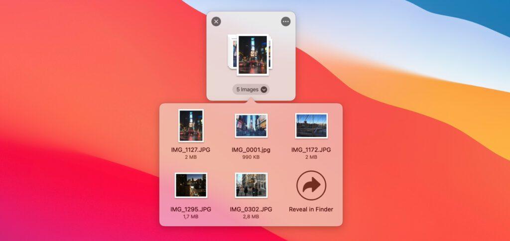 Das Dropover Shelf dient als smarte Erweiterung von Drag and Drop am Apple Mac. Hier könnt ihr Dateien und Ordner verschiedener Quellen sammeln, um sie dann kollektiv, in individuellen Gruppen oder einzeln weiterzuverwenden.