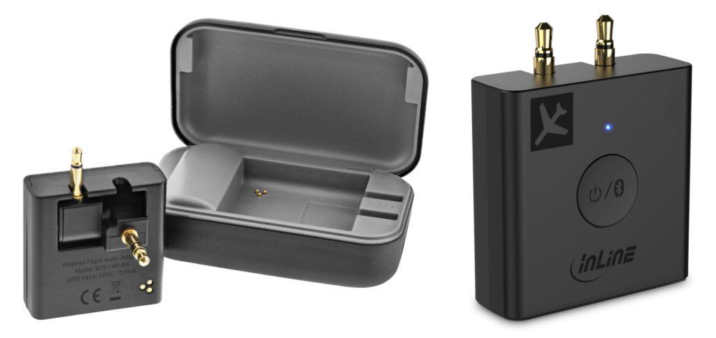 Mit dem InLine Bluetooth-Transmitter lassen sich bis zu zwei Klinke-Anschlüsse oder ein USB-Anschluss nutzen, um Audio verzögerungsfrei auf bis zu zwei Ausgabegeräte zu bringen. Hier findet ihr die technischen Details dazu.